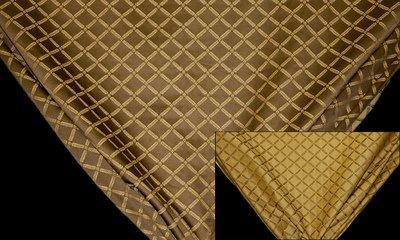 Discount Fabric JACQUARD Taupe Lattice Drapery & Upholstery