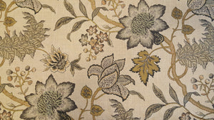 Discount Fabric DRAPERY Waverly Jacobean Flair/Verme Gray Floral