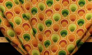 Discount Fabric DRAPERY Gold Seashell