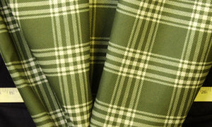 Discount Fabric DRAPERY Olive Green Plaid