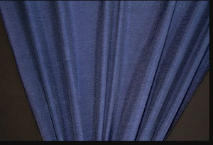 Discount Fabric DRAPERY Navy Crinkled Satin