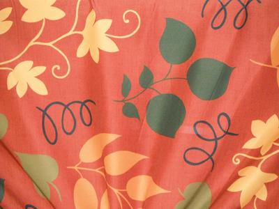 Discount Fabric DRAPERY OR BEDSPREAD Autumn Leaves