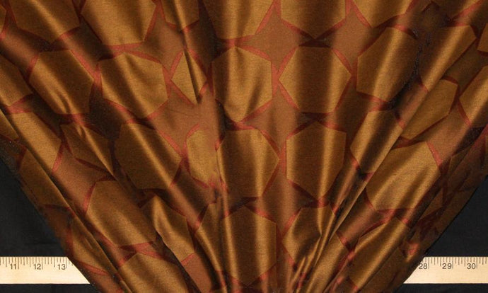 Discount Fabric FAUX SILK Tranquility Cinnebar Drapery