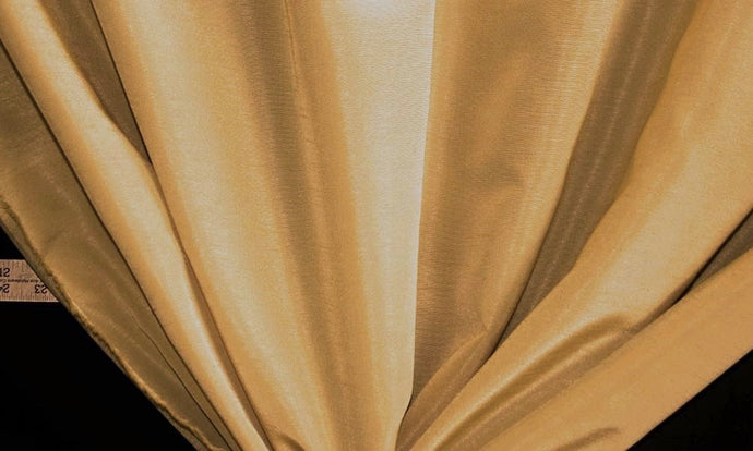 Discount Fabric FAUX SILK Pacific Light Gold Drapery