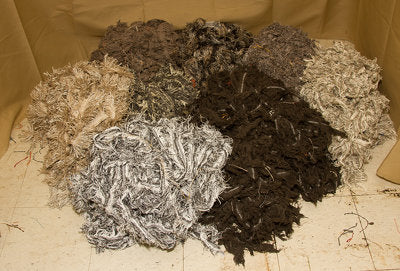 Blacks, Grey, Oatmeal & Charcoal 60 Pound Trimmings Pack