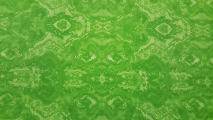 Green Abstract Double Napped Flannel