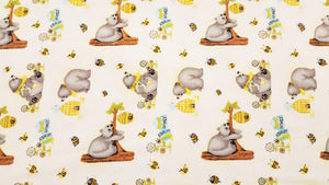 Beehive & Bear Double Napped Flannel