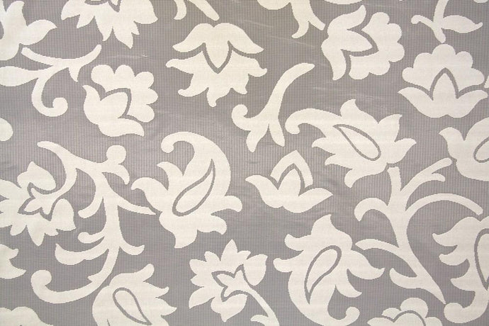 Discount Fabric LACE Ivory Large Scroll Curtain & Tablecloth