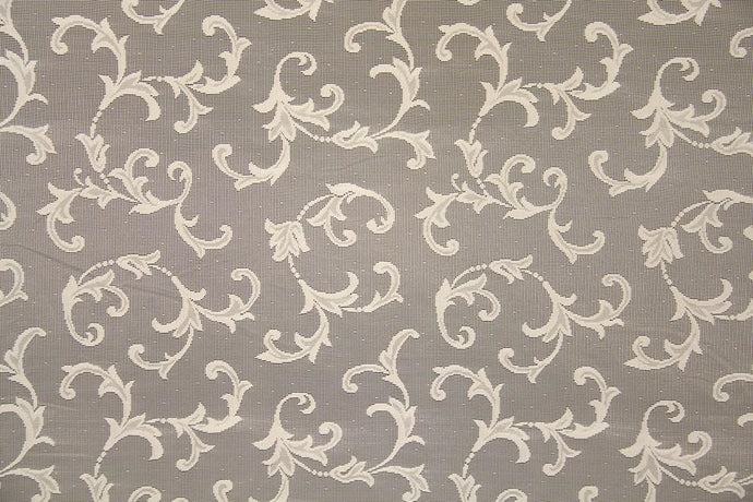 Discount Fabric LACE Ivory Small Scroll Curtain & Tablecloth