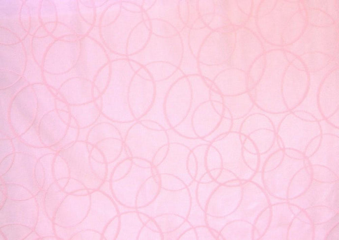 Discount Fabric LACE Pink Interlocking Circle Curtain & Tablecloth