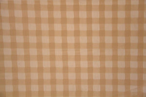 Discount Fabric LACE Copper Small Check Curtain & Tablecloth