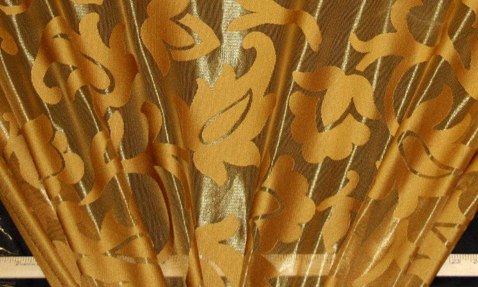 Discount Fabric LACE Gold Alabaster Curtain