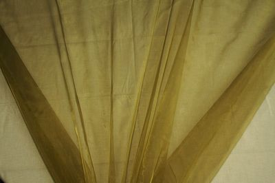 Olive Green Organza Fabric