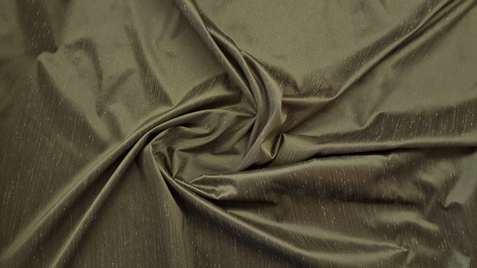 Discount Fabric FAUX SILK Taupe Shantung Dupioni Drapery