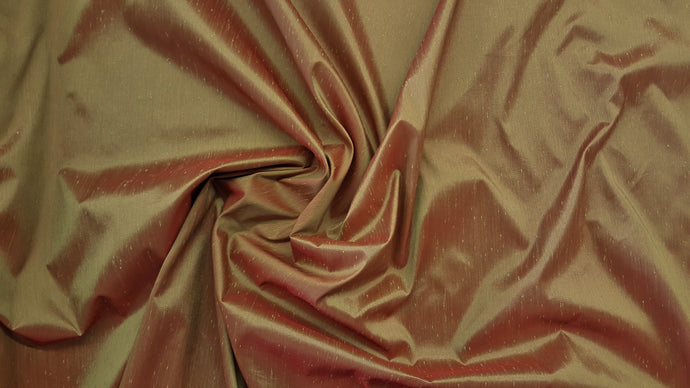 Discount Fabric FAUX SILK Light Chestnut Shantung Dupioni Drapery