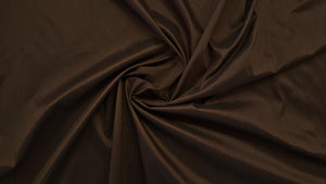 Discount Fabric FAUX SILK Dark Brown Shantung Dupioni Drapery