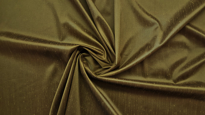 Discount Fabric FAUX SILK Olive Yellow Shantung Dupioni Drapery