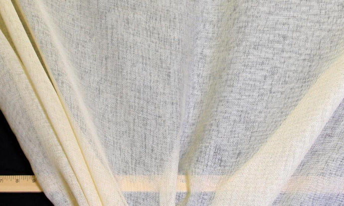 Discount Fabric SEMI-SHEER Cream Basketweave Drapery