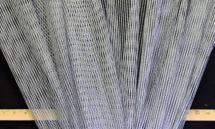 Discount Fabric SEMI-SHEER Silver Metallic Drapery