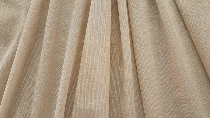 Discount Fabric SEMI-SHEER Light Taupe Drapery