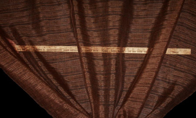 Discount Fabric SHEER Chocolate Drapery