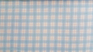 "101""/102"" Light Blue Plaid EXTRA WIDE Percale Sheeting Fabric"
