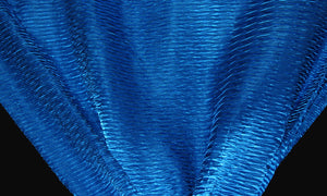 Royal Blue Wavy Crushed Taffeta