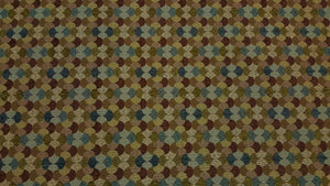 Discount Fabric JACQUARD Teal, Brown & Olive Tango Upholstery