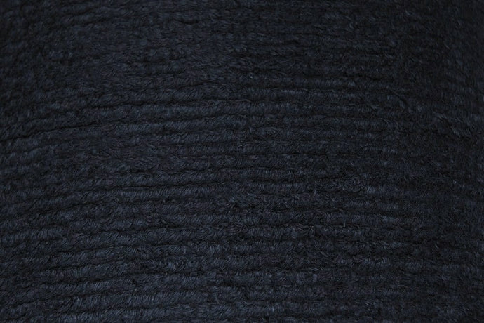 Black Terry Chenille Fabric