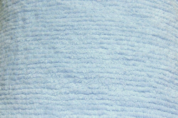 Blue Terry Chenille Fabric