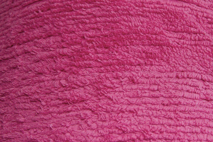 Hot Pink Terry Chenille Fabric