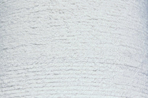 White Terry Chenille - WHOLESALE FABRIC - 10 Yard Bolt