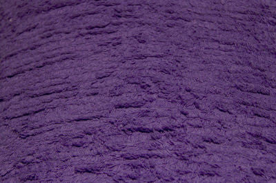 Purple Terry Chenille Fabric