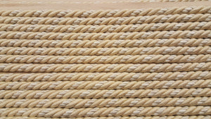"1/2"" Beige & Ivory Decorative Cording With Lip - 5 Yards"