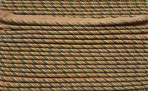 "1/4"" Olive, Peach & Celery Decorative Cording With Lip - 5 Yards"