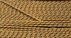 "1/4"" Gold, Olive & Burnt Sienna Decorative Cording - 5 Yards"