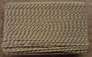 "1/4"" Ivory & Country Blue Decorative Cording - 5 Yards"