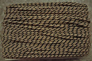 "1/4"" Taupe & Black Decorative Cording - 5 Yards"