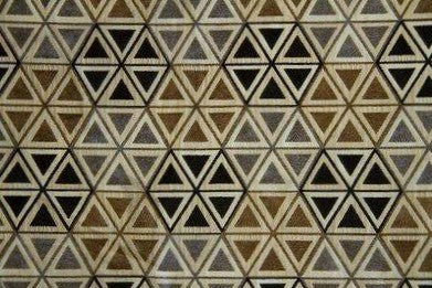 Discount Fabric CHENILLE Black & Gray Hexagon Upholstery & Drapery