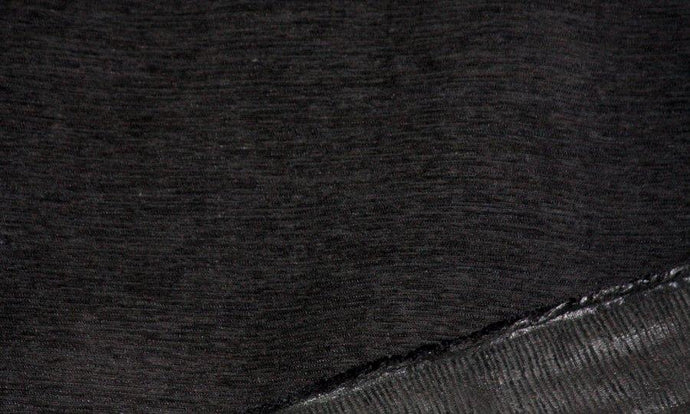 Discount Fabric CHENILLE Black Rib Upholstery