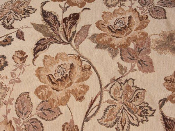 Discount Fabric TAPESTRY Wine & Gold Floral Upholstery
