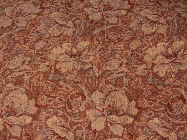 Discount Fabric TAPESTRY Wine & Copper Upholstery
