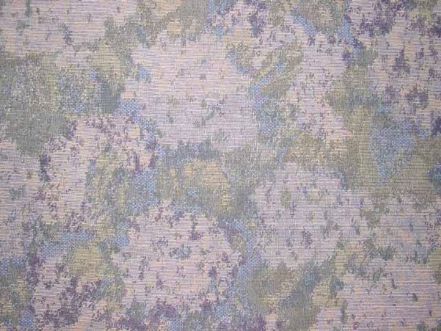Discount Fabric TAPESTRY Blue Azalea Watercolor Abstract Upholstery