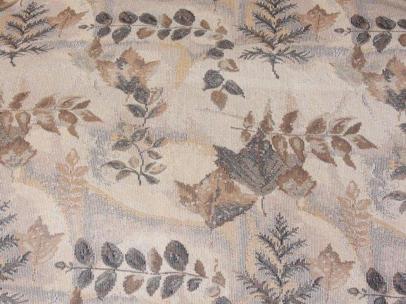 Discount Fabric TAPESTRY Blue Leaf Upholstery