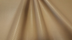 Discount Fabric ULTRA LEATHER Promessa Perforated Barley Upholstery & Automotive