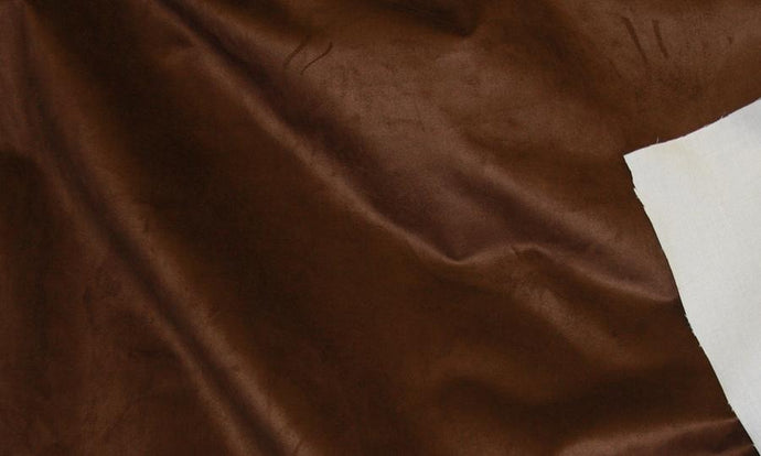 Discount Fabric MICROSUEDE Cocoa Upholstery