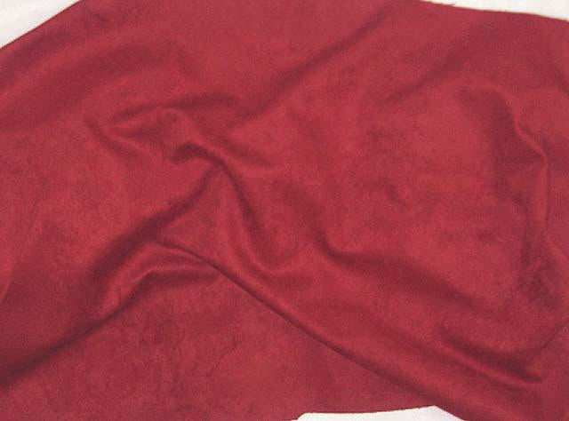 Discount Fabric MICROSUEDE Garnet Red Upholstery