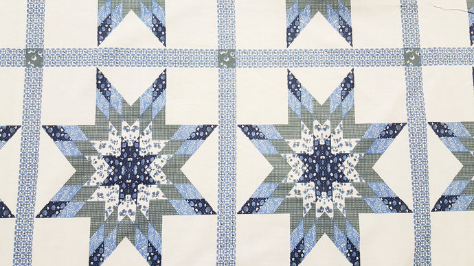 Startlast Blue Cheater's Quilt Fabric