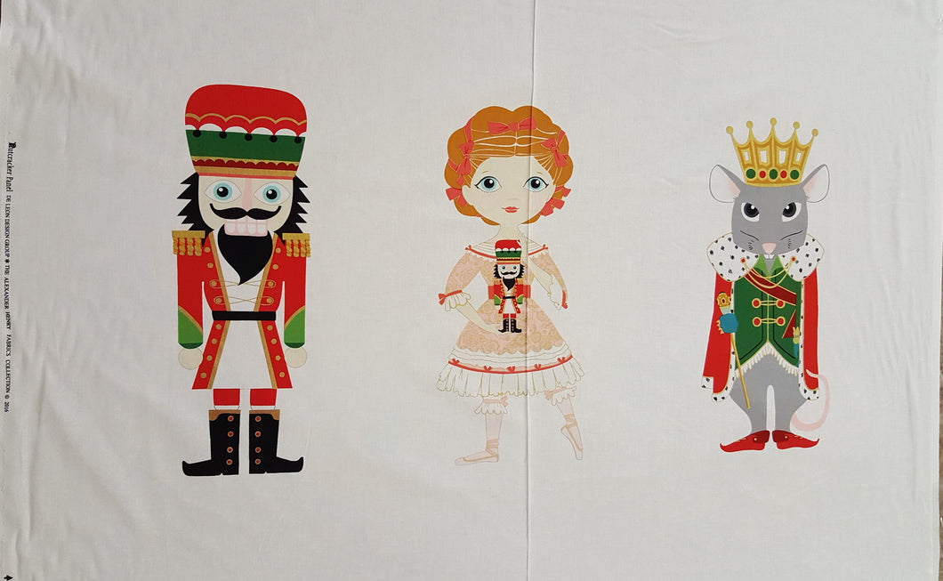 Nutcracker PANEL 100% Cotton Fabric