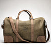 Faux Leather Weekender Duffle - Hunter Green